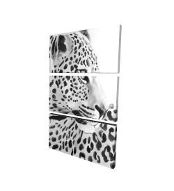 Canvas 24 x 36 - 3D - Beautiful leopard