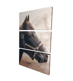 Toile 24 x 36 - 3D - Gallopin le cheval brun