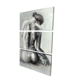 Canvas 24 x 36 - 3D - Nude woman from behind