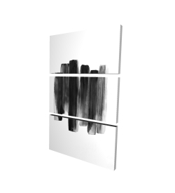Canvas 40 x 60 - 3D - Black shapes