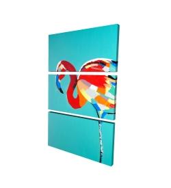 Canvas 24 x 36 - 3D - Abstract flamingo