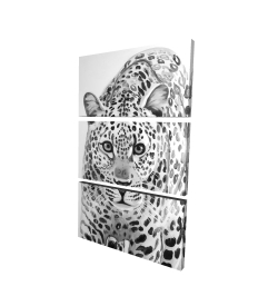 Canvas 24 x 36 - 3D - Leopard ready to attack