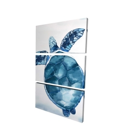 Canvas 24 x 36 - 3D - Blue turtle