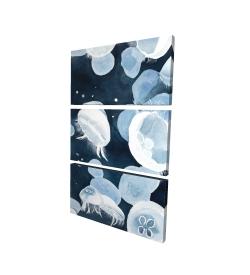 Canvas 24 x 36 - 3D - Jellyfishs