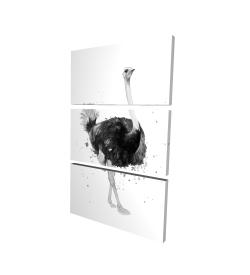 Canvas 24 x 36 - 3D - Proud ostrich