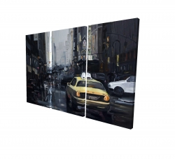 Canvas 24 x 36 - 3D - New york in the dark