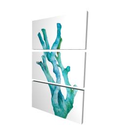 Toile 24 x 36 - 3D - Petit corail de mer à l'aquarelle