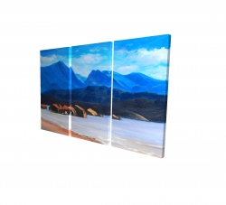 Canvas 24 x 36 - 3D - Scotland calm eddies