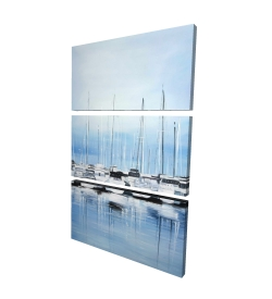 Canvas 24 x 36 - 3D - Boats at the dock