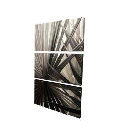 Canvas 24 x 36 - 3D - Grayscale tropical plants