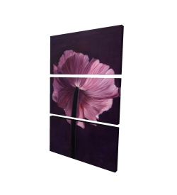 Canvas 24 x 36 - 3D - Purple petals