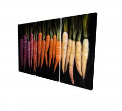 Canvas 24 x 36 - 3D - Colorful carrots