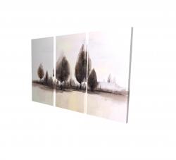 Canvas 24 x 36 - 3D - Landscape of trees