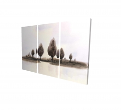 Canvas 24 x 36 - 3D - Abstract landscape of trees