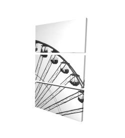 Canvas 24 x 36 - 3D - Quarter of a ferris wheel