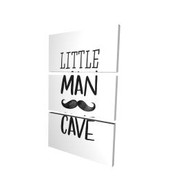 Canvas 24 x 36 - 3D - Little man cave