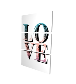 Canvas 24 x 36 - 3D - Colorful love