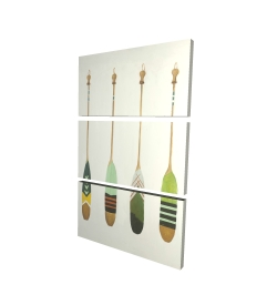 Canvas 24 x 36 - 3D - Colorful nautical oars