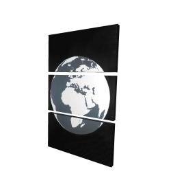 Canvas 24 x 36 - 3D - Earth