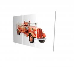 Canvas 24 x 36 - 3D - Vintage fire truck