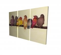 Canvas 24 x 36 - 3D - Bird family