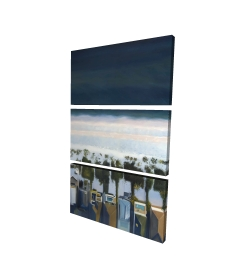Canvas 24 x 36 - 3D - Bird's eye view of beach