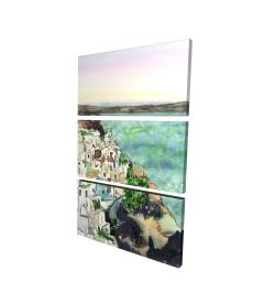 Canvas 24 x 36 - 3D - Landscape of crete