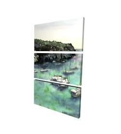 Canvas 24 x 36 - 3D - Boats in cala macarella