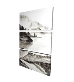 Canvas 24 x 36 - 3D - Peaceful landscape