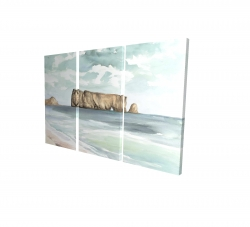 Canvas 24 x 36 - 3D - Rocher percé