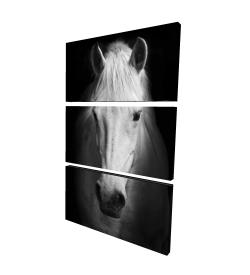 Canvas 24 x 36 - 3D - Monochrome horse