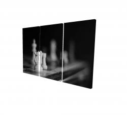 Canvas 24 x 36 - 3D - Monochrome chess games