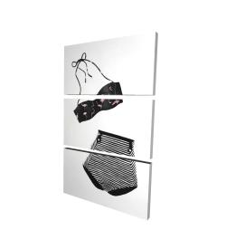Canvas 24 x 36 - 3D - Vintage women's swimsuit