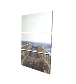 Canvas 24 x 36 - 3D - Relaxing beach