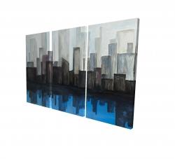 Canvas 24 x 36 - 3D - View of a blue city