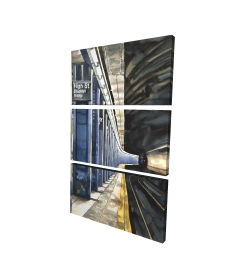 Canvas 24 x 36 - 3D - New-york subway