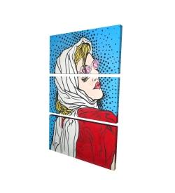 Canvas 24 x 36 - 3D - Pop art woman