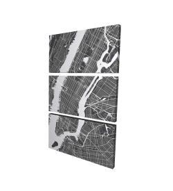Canvas 24 x 36 - 3D - New-york city plan