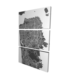 Canvas 24 x 36 - 3D - San francisco city plan