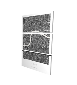 Canvas 24 x 36 - 3D - Graphic map of london