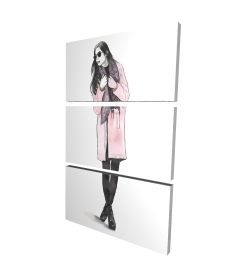 Canvas 24 x 36 - 3D - Woman spring look