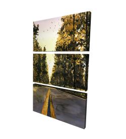 Canvas 24 x 36 - 3D - Long road
