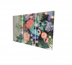 Canvas 24 x 36 - 3D - Flowers melody