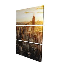 Canvas 24 x 36 - 3D - New york city at sunset