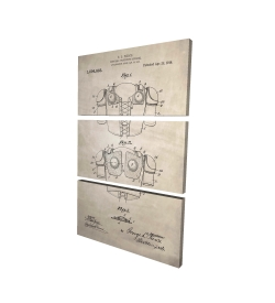 Canvas 24 x 36 - 3D - Football protective apparel blueprint