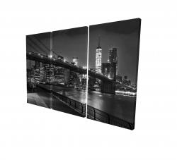 Canvas 24 x 36 - 3D - City under the night