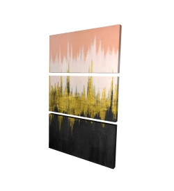 Canvas 24 x 36 - 3D - Abstract zigzag