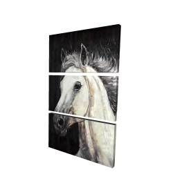 Canvas 24 x 36 - 3D - White star