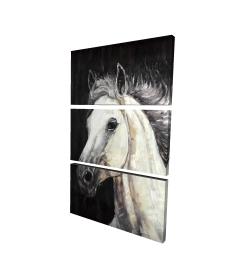 Canvas 24 x 36 - 3D - White star horse