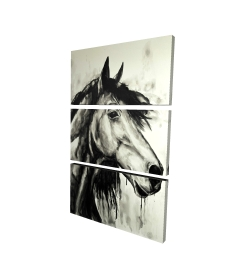 Toile 24 x 36 - 3D - Cheval spirit